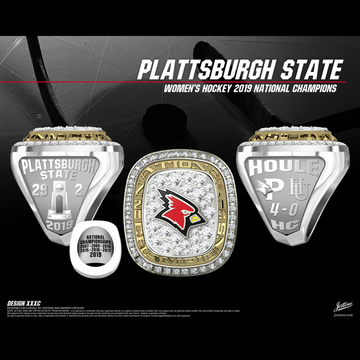 Plattsburgh State University Women's Ice Hockey 2019 National Championship Ring