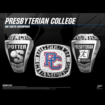 Presbyterian College Men's Soccer 2017 Big South Championship Ring
