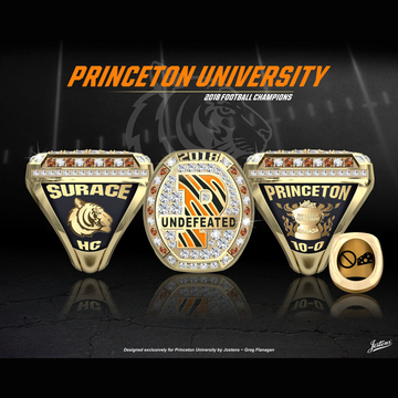 Princeton University Men's Football 2018 Ivy League Championship Ring