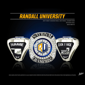Randall University Men's Basketball 2017 National Championship Ring
