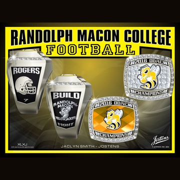 Randolph Macon College Men's Football 2016 ODAC Championship Ring