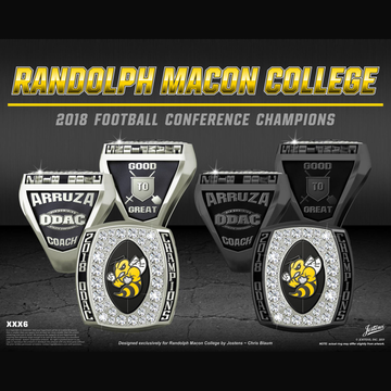 Randolph Macon College Men's Football 2018 ODAC Championship Ring