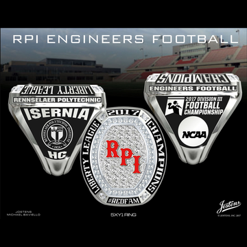 Rensselaer Polytech Institute Men's Football 2017 Liberty League Championship Ring