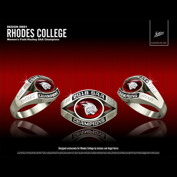 Rhodes College Women's Field Hockey 2018 SAA Championship Ring