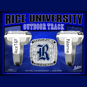 Rice University Women's Track & Field 2016 Conference USA Championship Ring