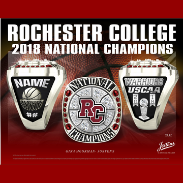 Rochester College Men's Basketball 2018 National Championship Ring