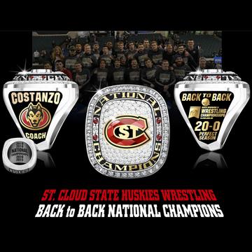 Saint Cloud State University Men's Wrestling 2019 National Championship Ring