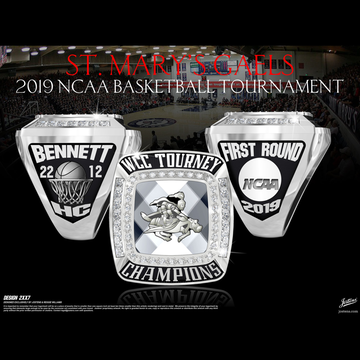 Saint Mary's College of California Men's Basketball 2019 WCC Championship Ring