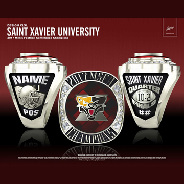 Saint Xavier University Men's Football 2017 MSFA Championship Ring