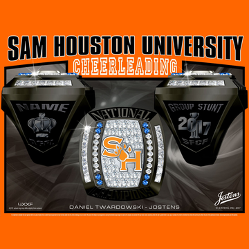 Sam Houston State University Coed Cheer 2017 National Championship Ring