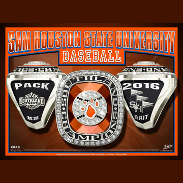 Sam Houston State University Men's Baseball 2016 Southland Championship Ring