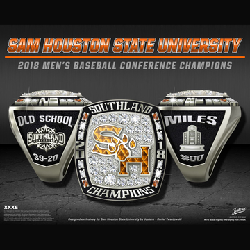 Sam Houston State University Men's Baseball 2018 Southland Championship Ring