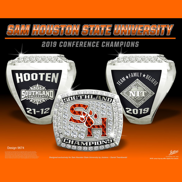 Sam Houston State University Men's Basketball 2019 Southland Championship Ring