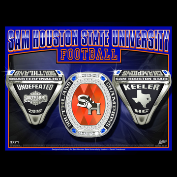 Sam Houston State University Men's Football 2016 Southland Championship Ring
