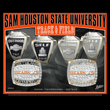 Sam Houston State University Men's Track & Field 2018 Southland Championship Ring