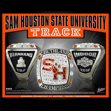 Sam Houston State University Men's Track & Field 2018 Southland Championship Ring