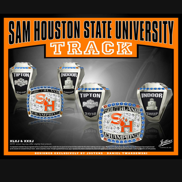 Sam Houston State University Women's Track & Field 2018 Southland Championship Ring