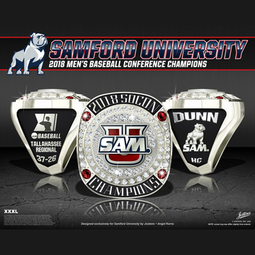 Samford University Men's Baseball 2018 Conference Championship Ring