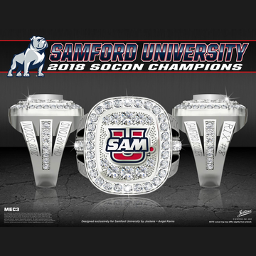 Samford University Women's Soccer 2018 SoCon Championship Ring