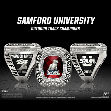 Samford University Women's Track & Field 2019 SoCon Championship Ring