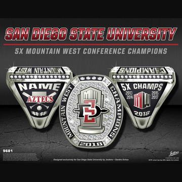 San Diego State University Men's Baseball 2018 Mountain West Championship Ring