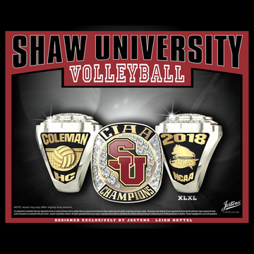 Shaw University Women's Volleyball 2018 CIAA Championship Ring