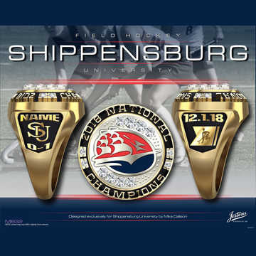 Shippensburg University Women's Field Hockey 2018 National Championship Ring