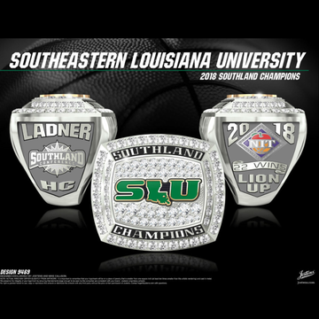 Southeastern Louisiana University Men's Basketball 2018 Southland Championship Ring