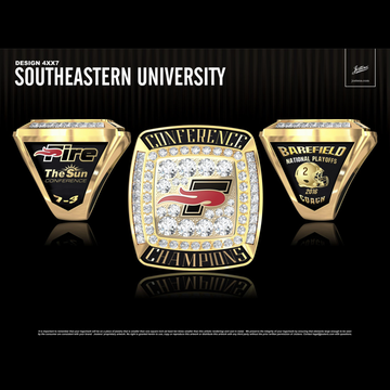 Southeastern University Men's Football 2016 The Sun Championship Ring