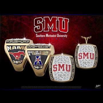 Southern Methodist University Men's Basketball 2017 American Championship Ring