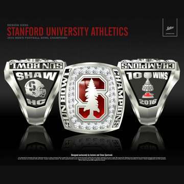 Stanford University Men's Football 2016 Sun Bowl Championship Ring