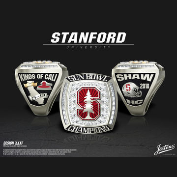 Stanford University Men's Football 2018 Sun Bowl Championship Ring