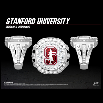 Stanford University Men's Football 2018 Sun Bowl Women's Championship Ring