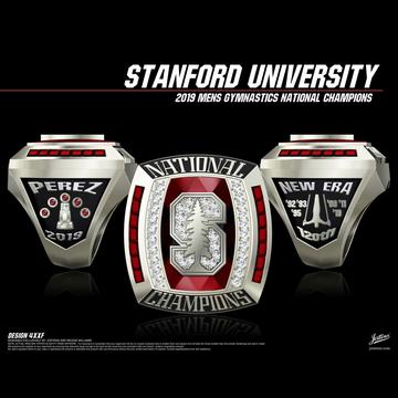 Stanford University Men's Gymnastics 2019 National Championship Ring