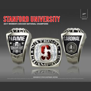 Stanford University Women's Soccer 2017 National Championship Ring