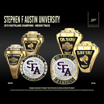 Stephen F. Austin State University Women's Track & Field 2019 Southland Championship Ring