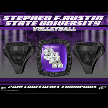 Stephen F. Austin State University Women's Volleyball 2018 Southland Championship Ring