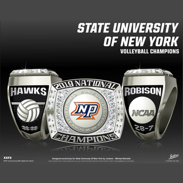 SUNY New Paltz Men's Volleyball 2019 National Championship Ring