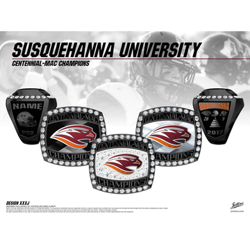 Susquehanna University Men's Football 2017 Centennial-MAC Championship Ring