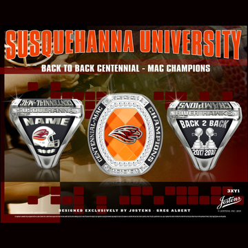 Susquehanna University Men's Football 2018 Centennial-MAC Championship Ring