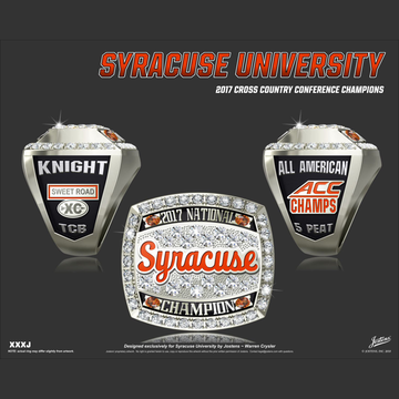 Syracuse University Men's Cross Country 2017 National Championship Ring