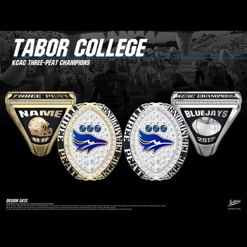 Tabor College Men's Football 2017 KCAC Championship Ring