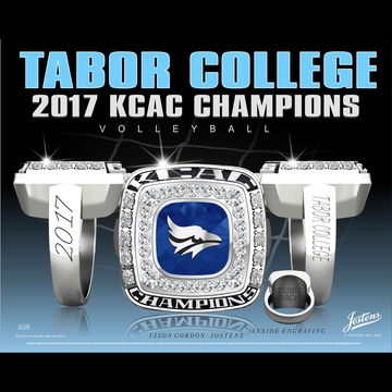 Tabor College Women's Volleyball 2017 KCAC Championship Ring