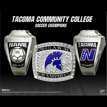 Tacoma Community College Men's Soccer 2018 NWAC Championship Ring