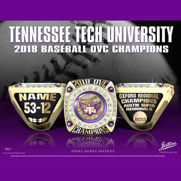 Tennessee Tech University Men's Baseball 2018 OVC Championship Ring