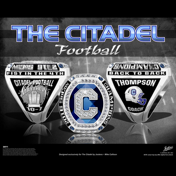 The Citadel Men's Football 2016 SoCon Championship Ring