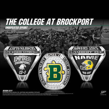 The College at Brockport Men's Football 2017 Empire 8 Championship Ring