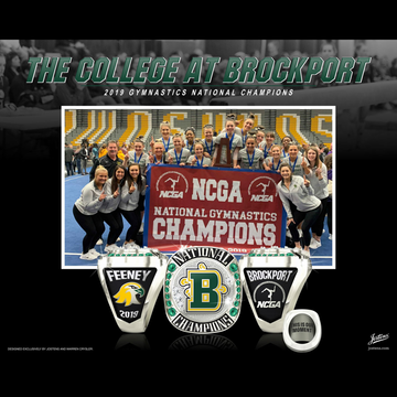 The College at Brockport Women's Gymnastics 2019 National Championship Ring