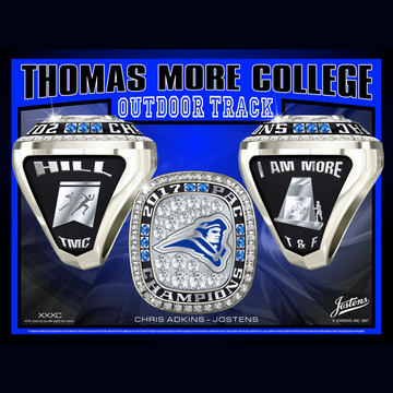 Thomas More College Men's Track & Field 2017 PAC Championship Ring