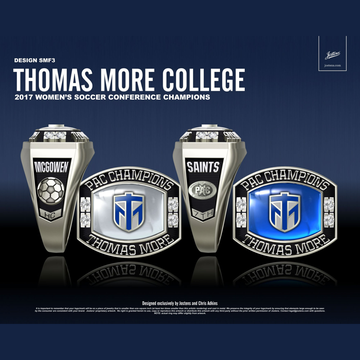 Thomas More College Women's Soccer 2017 PAC Championship Ring